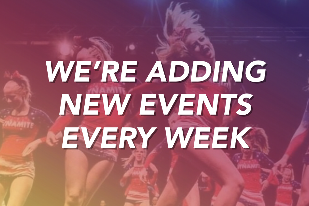 We're Adding New Events Every Week